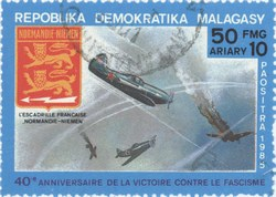 Victory over Fascism: 50-Franc (10-Ariary) Postage Stamp