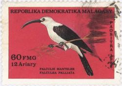 Falculea palliata: 60-Franc (12-Ariary) Postage Stamp
