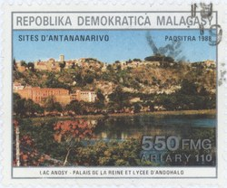 Lac Anosy: 550-Franc (110-Ariary) Postage Stamp