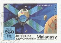 Mariner-9: 250-Franc (50-Ariary) Postage Stamp