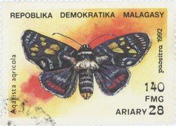Agarista agricola: 140-Franc (28-Ariary) Postage Stamp