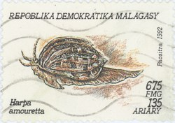 Harpa amouretta): 675-Franc (135-Ariary) Postage Stamp