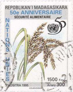 United Nations: Food Security: 1,500-Franc (300-Ariary) Postage Stamp