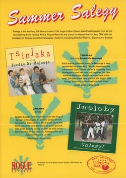 Summer Salegy: Tsinjaka featuring Freddy De Majunga / Jaojoby: Salegy!