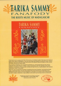 Tarika Sammy: Fanafody: The Roots Music of Madagascar