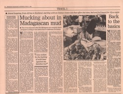 Mucking about in Madagascan mud: Weekend Telegraph, Saturday 17 June 1989