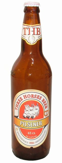 Bottle – THB (Three Horses Beer): 65cl