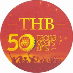 THB Beer Mat: Circular, 50th Anniversary