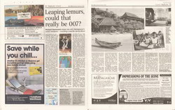 Leaping lemurs, could that really be 007?: The Times Travel, Saturday February 3 2007