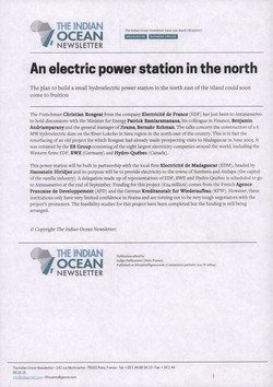 An electric power station in the north: Article from The Indian Ocean Newsletter, Issue 1221, 8 September 2007
