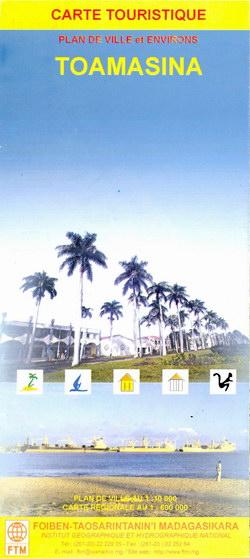 Carte Touristique: Toamasina: Plan de Ville et Environs