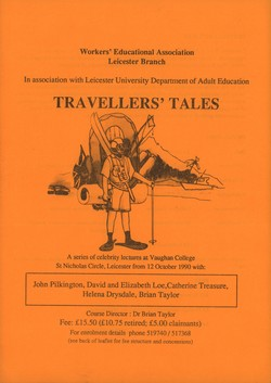 Travellers' Tales: Workers' Educational Association Leicester Branch in association with Leicester University Department of Adult Education