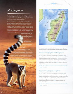 Madagascar: from the The Ultimate Travel Company 2005 Brochure