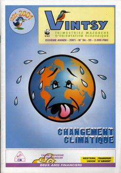 Vintsy: Trimestriel Malgache d'Orientation Ecologique: No. 34-35: Changement climatique