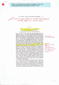 Notes on the Origin of the Malagasy
