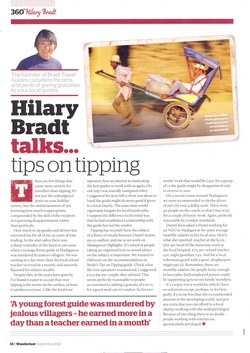 Hilary Bradt talks... tips on tipping