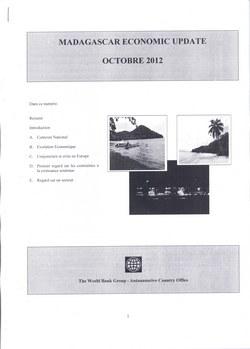 Madagascar Economic Update: Octobre 2012