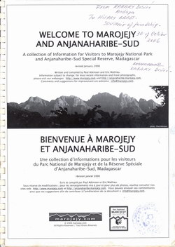 Welcome to Marojejy and Anjanaharibe-Sud / Bienvenue ? Marojejy et Anjanaharibe-Sud: A collection of information for Visitors to Marojejy National Park and Anjanaharibe-Sud Special Reserve, Madagascar / Une collection d'informations pour les visiteurs du Parc National de Marojejy et de la Réserve Spéciale d'Anjanaharibe-Sud, Madagascar