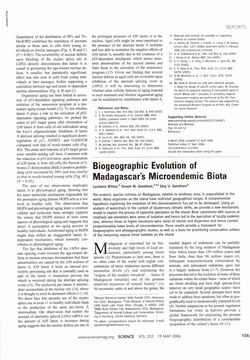 Biogeographic Evolution of Madagascar's Microendemic Biota