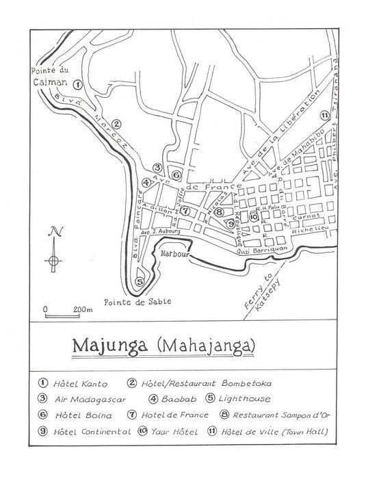 Majunga Mahajanga Original map artwork for the Bradt Madagasca